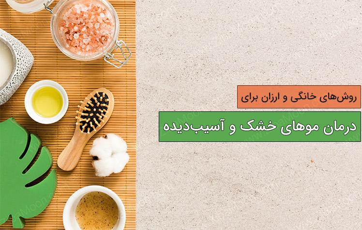 درمان های خانگی برای موهای خشک و آسیب دیده