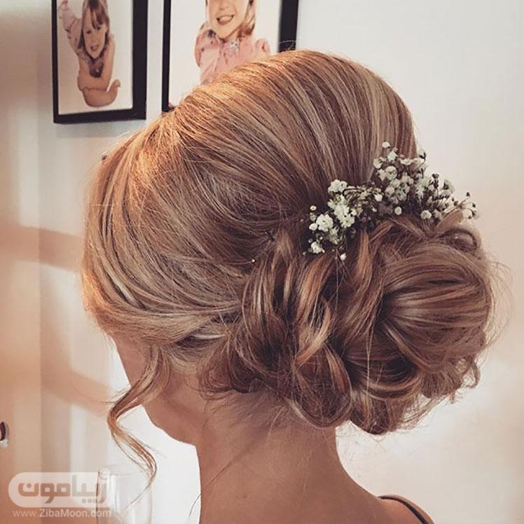 مدل مو عروس ساده