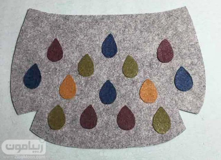 دیزاین کیف با نمد رنگی