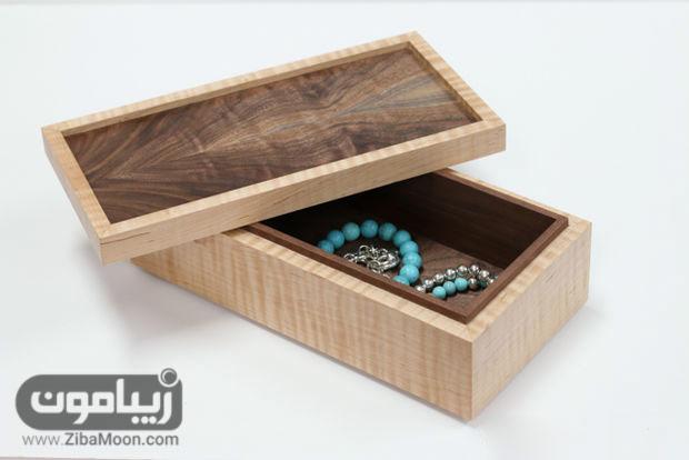 دوخت حلقه نمدی طرز ساخت جعبه جواهرات چوبی شیک و ساده | زیبامون