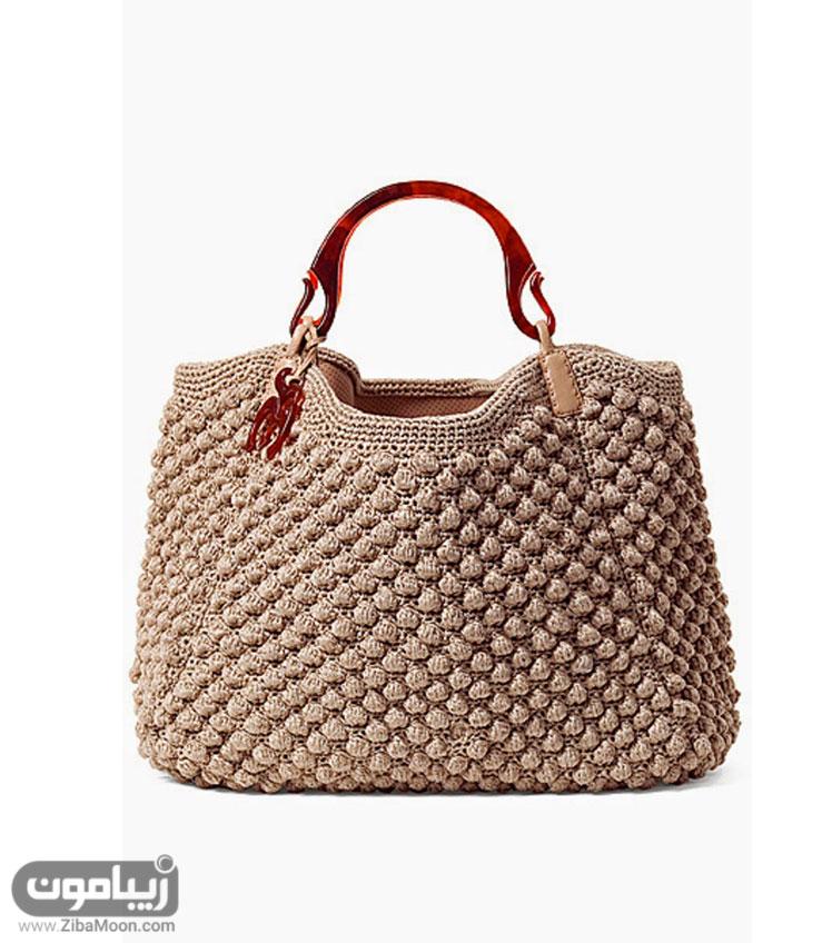 کیف بافت شکلاتی رنگ