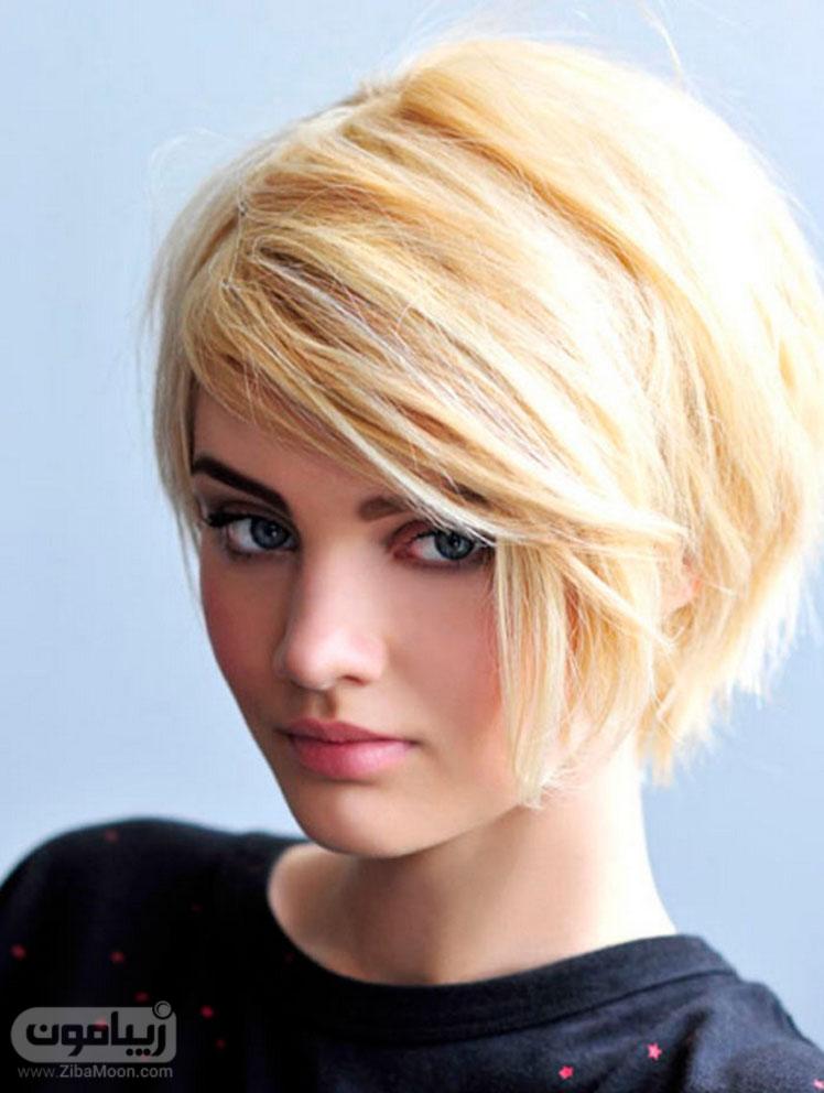 مدل موی کوتاه و رنگ موی بلوند برای خانم ها