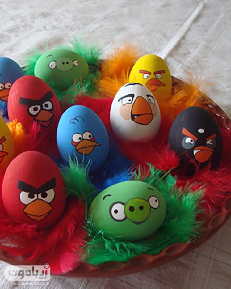 رنگ آمیزی نقاشی مخصوص سفره هفت سین طرح تخم مرغ رنگی عید - زیبامون
