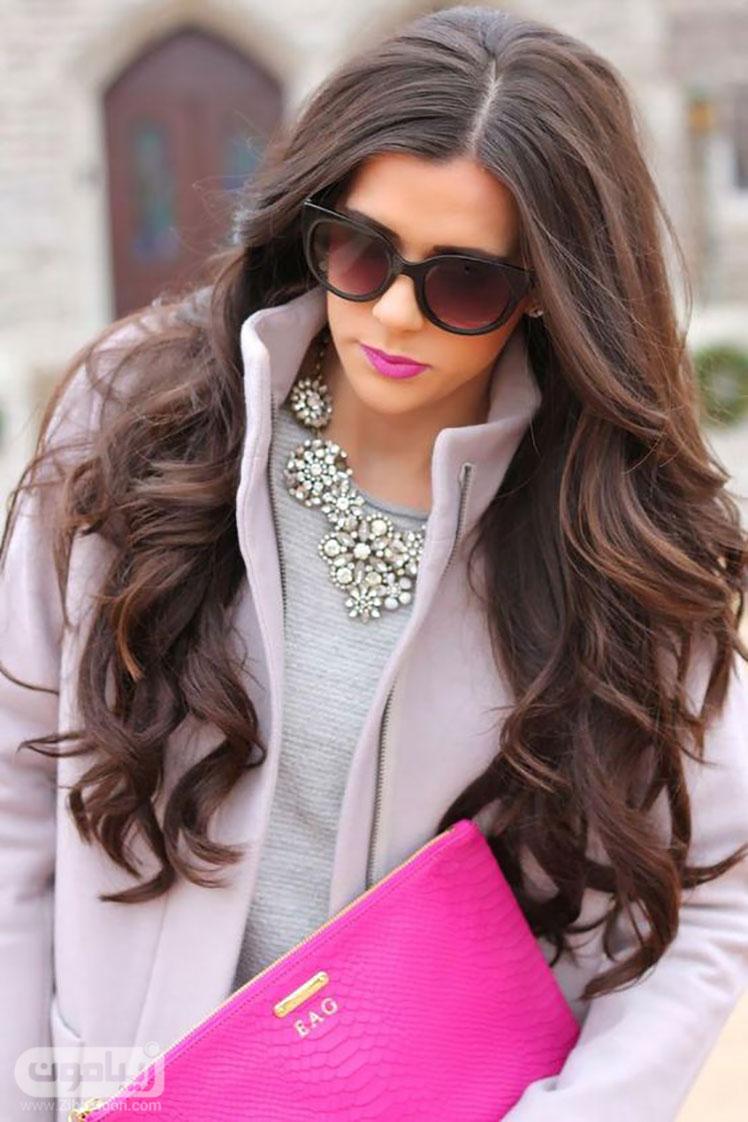 مدل موی فر باز برای موهای بلند