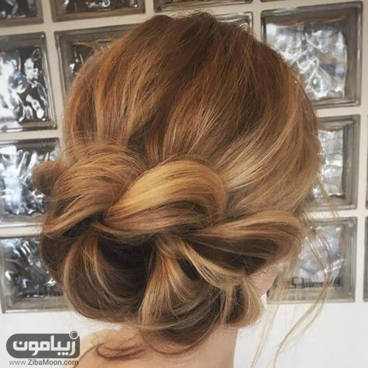 شینیون زیبا و خاص برای موهای کوتاه