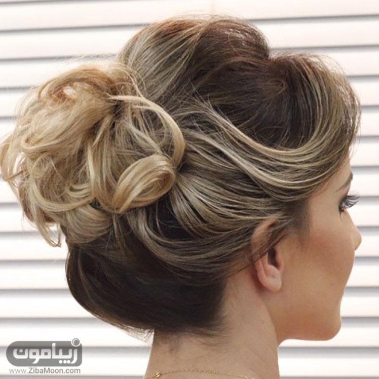 شینیون ساده برای مو کوتاه