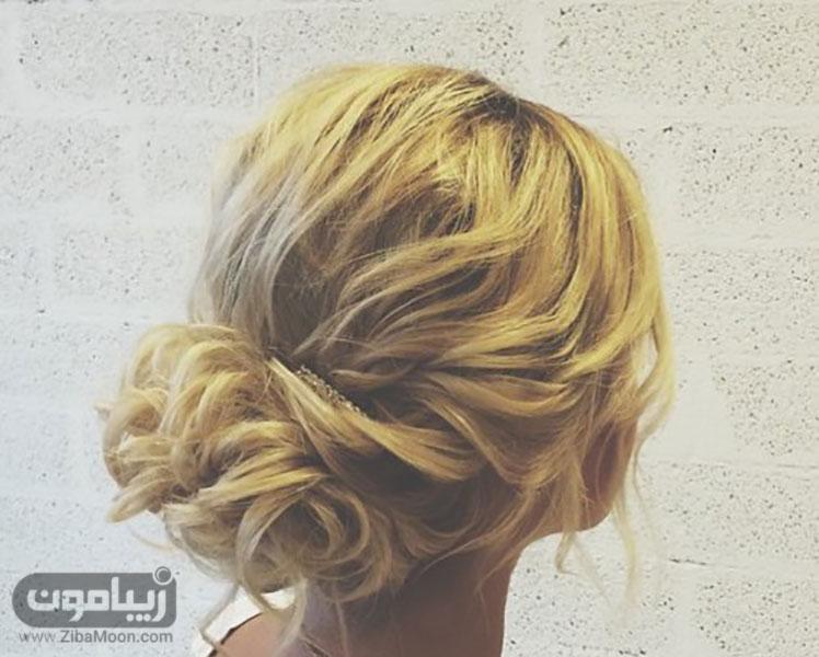 شینیون زیبا برای موهای کوتاه