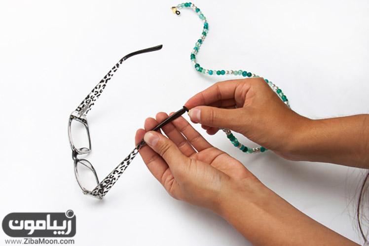 وصل کردن بند عینک فانتزی به عینک