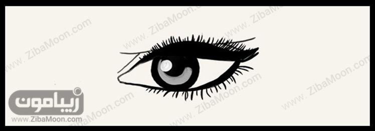 خط چشم برای چشم با پلک پف دار