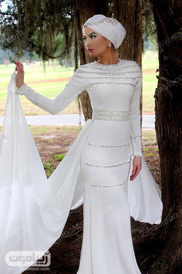 لباس عروس ساده و محجبه