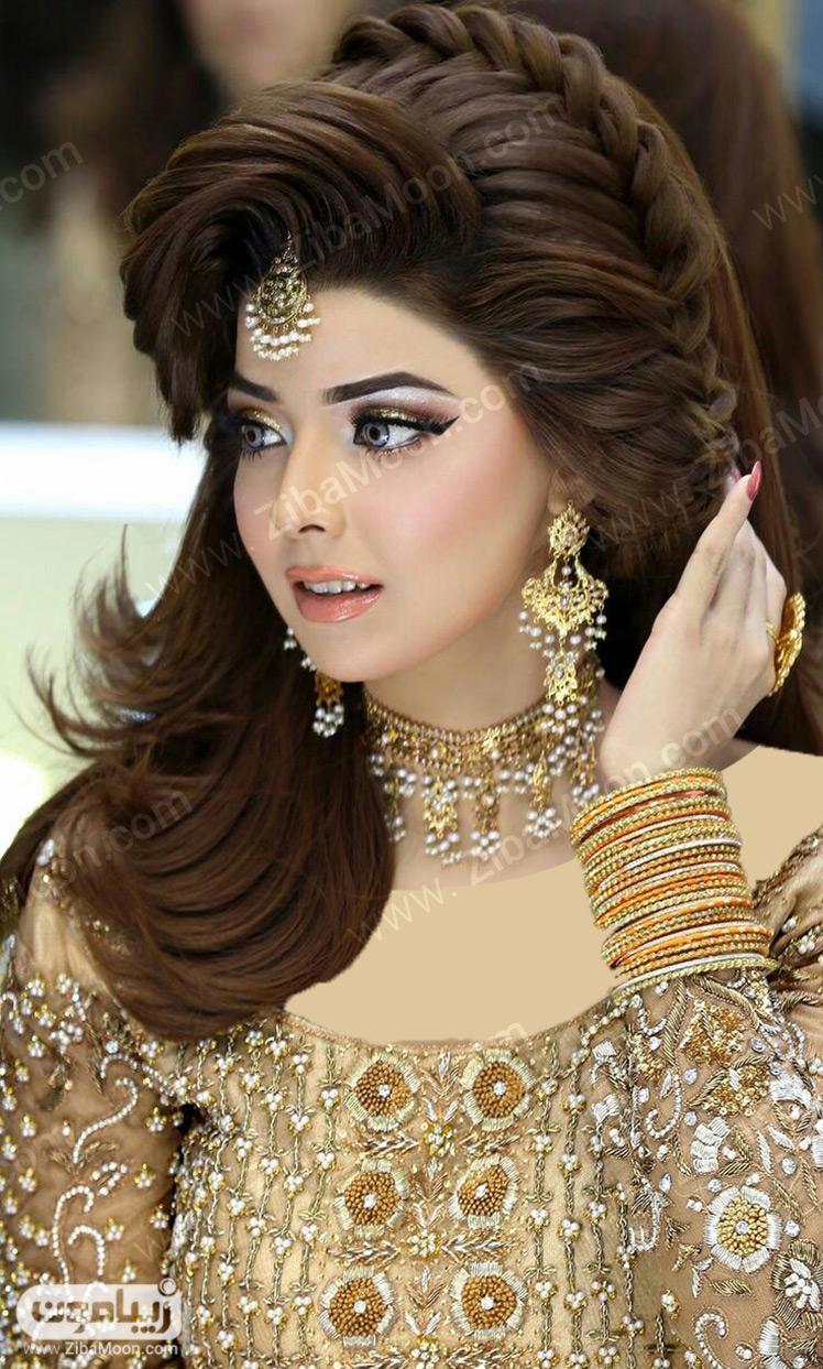 جدیدترین مدل مو هندی بافت و شینیون - زیبامون