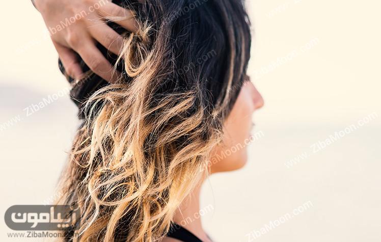 موهای رنگ شده و خشک