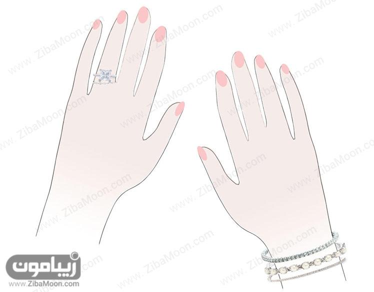 دستبند و انگشتر پرنسسی