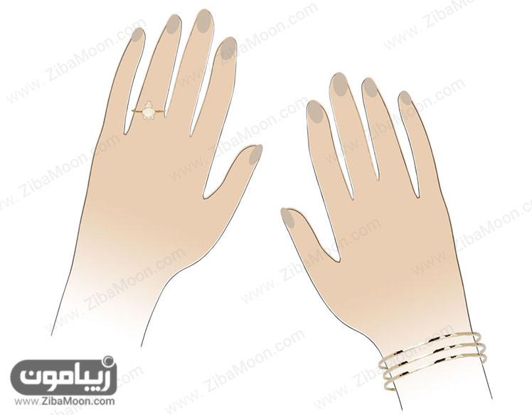 انگشتر و دستبند عروس