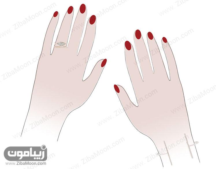 انگشتر و دستبند ظریف