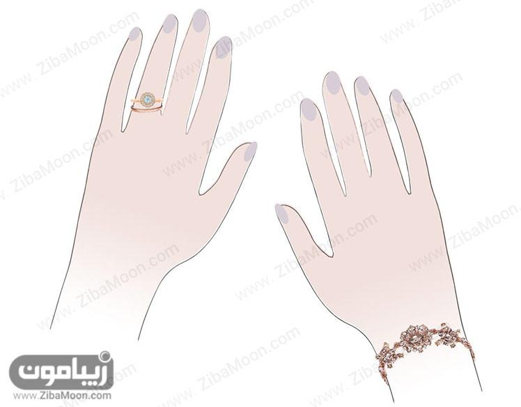 انگشتر و دستبند شیک