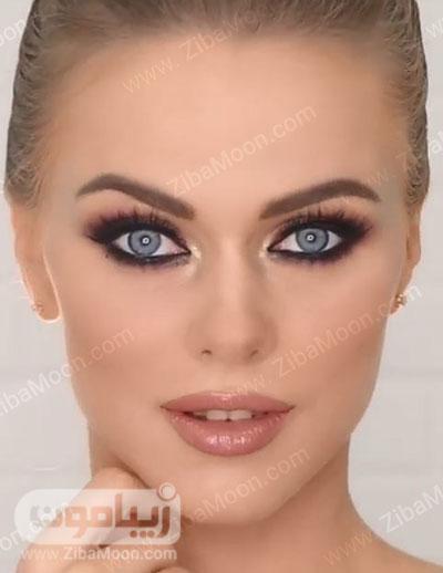 مدل آرایش عروس اروپایی زیبا