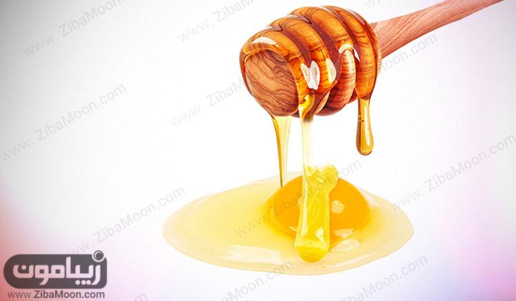 عسل و سفیده تخممرغ