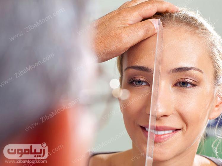 معاینه بینی برای جراحی زیبایی