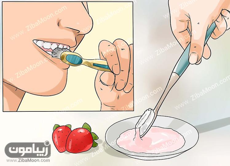 خمیر توت فرنگی و جوش شیرین