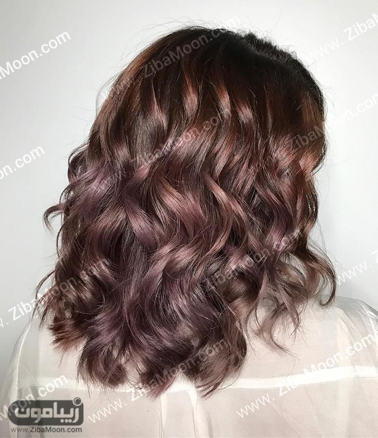 رنگ موی قهوه ای ارغوانی
