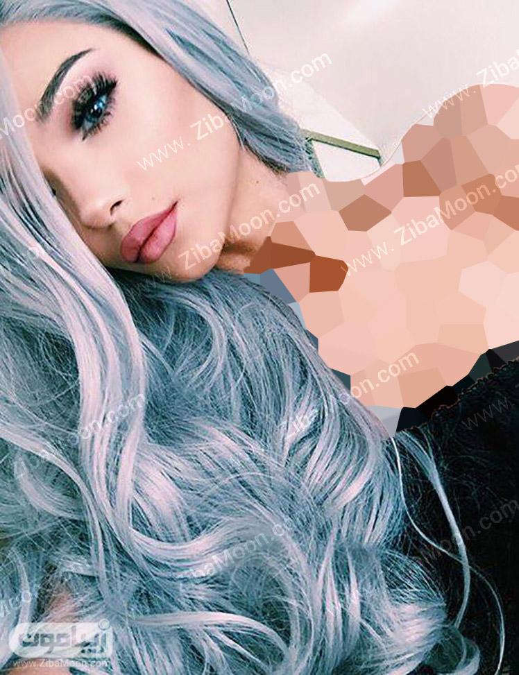 رنگ مو آبی خاکستری