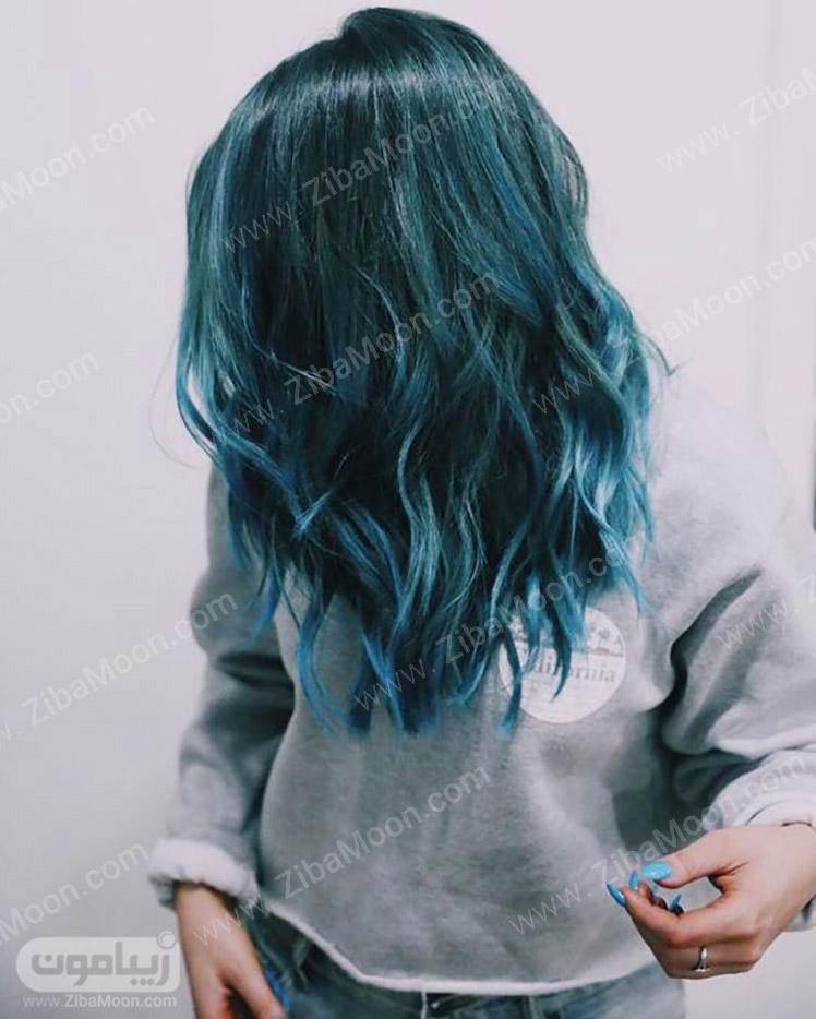 رنگ مو آبی و سبز تیره
