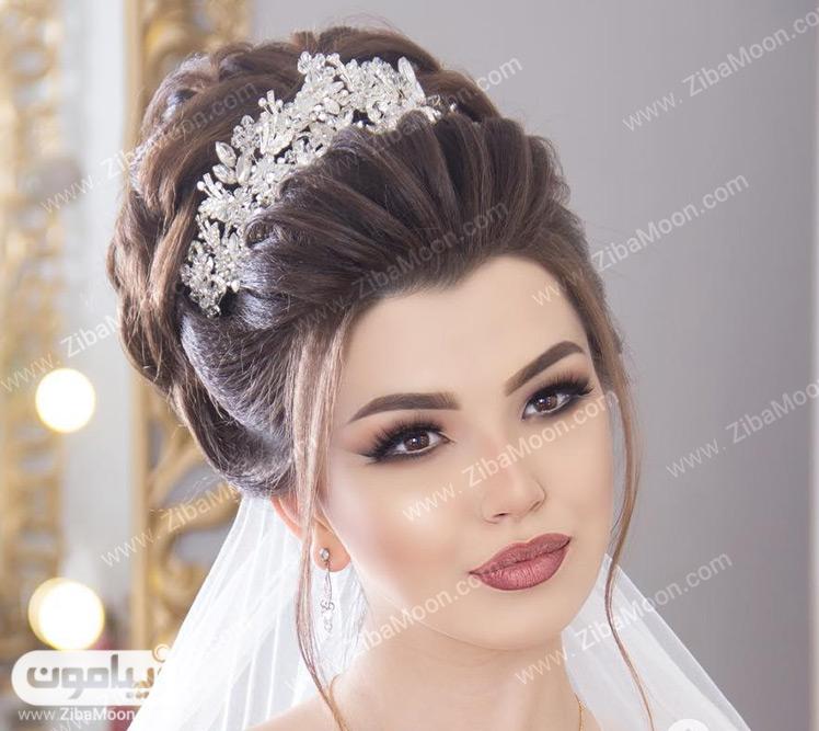مدل آرایش ساده و زیبای عروس