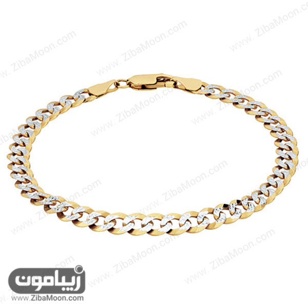 دستبند طلا زرد و سفید