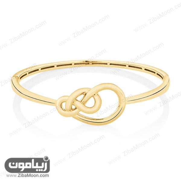دستبند طلا با حالت گره خورده