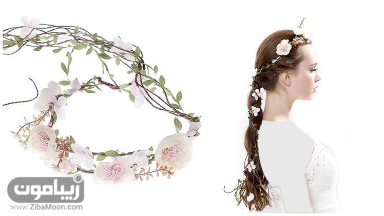 تاج گل برای مل موی بلند