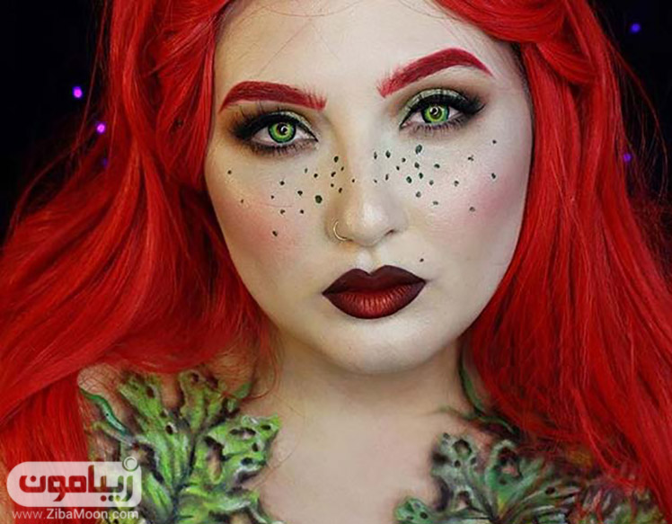 آرایش قرمز برای هالووین