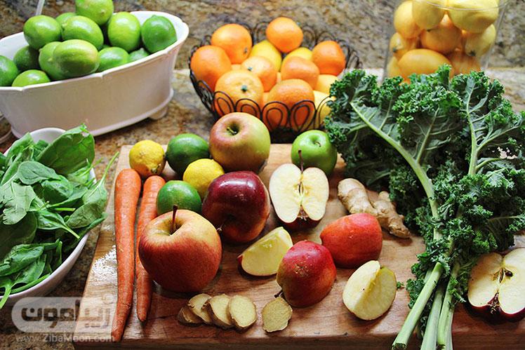 میوه و سبزیجات برای درمان کبد چرب