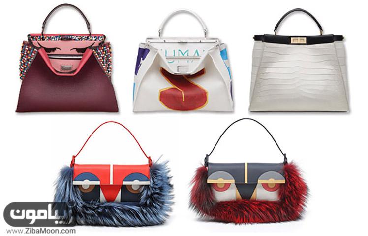 کیف زنانه از برند fendi