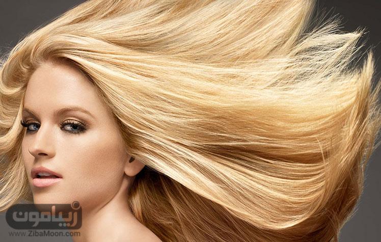 موی بلوند زیبا و پرپشت