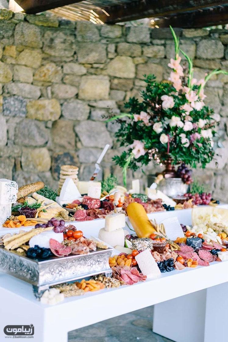 میز شام عروسی مدیترانه ای