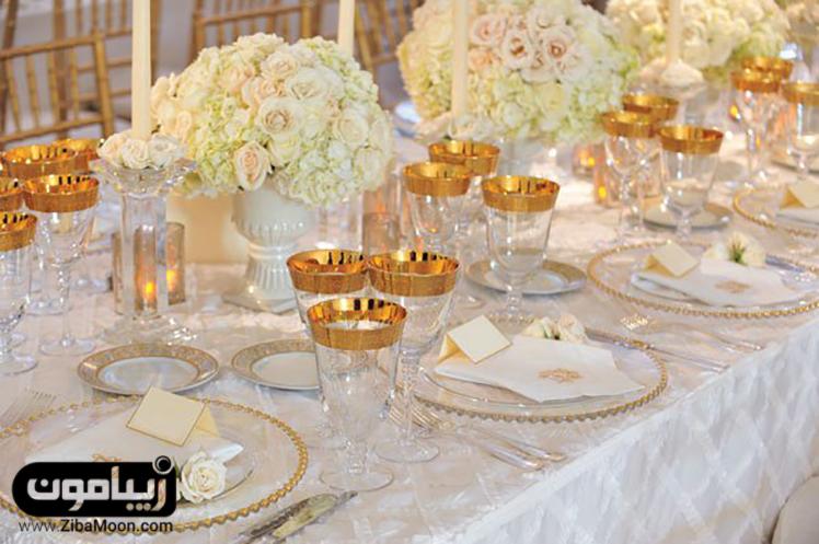 میز شام عروسی 15