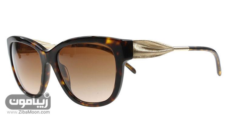 عینک آفتابی زنانه با دسته طلایی
