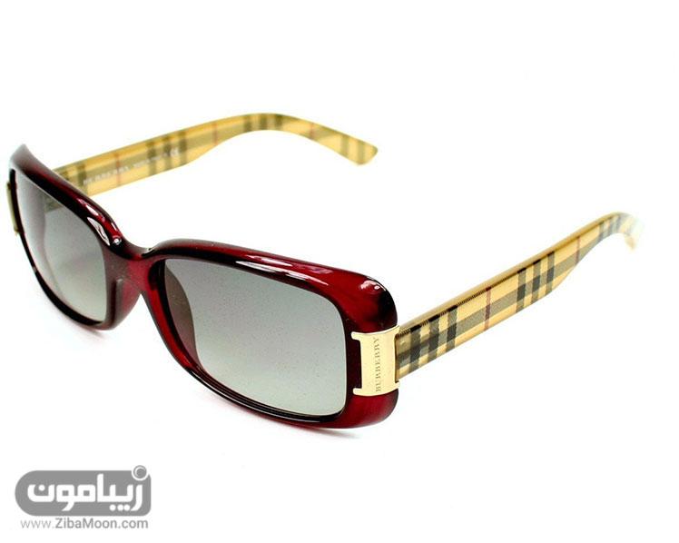 عینک آفتابی با فریم قرمز زیبا