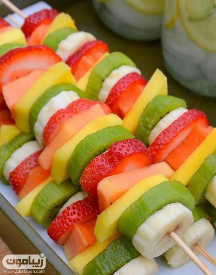 برشهای مختلف میوه