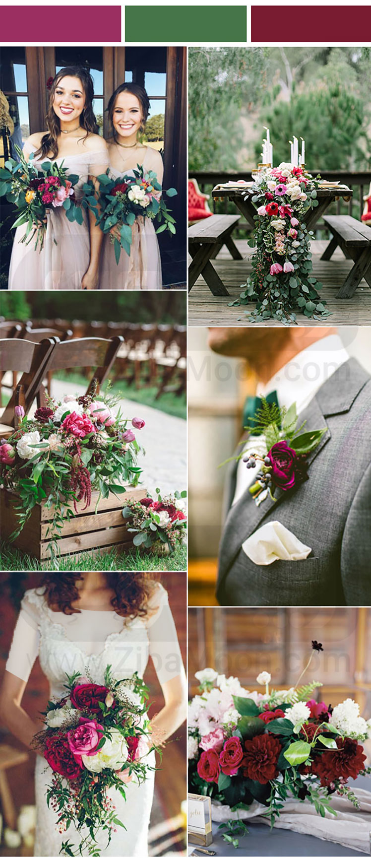 تم عروسی سبز و بنفش