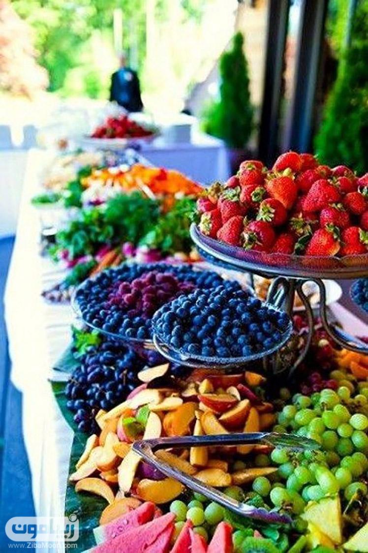 میوه های تابستانی و برش خورده