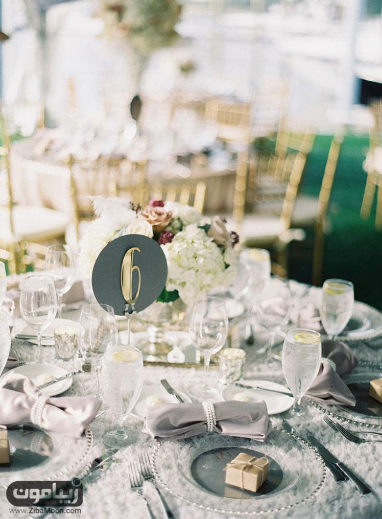 میز شام عروسی شیک و خاص