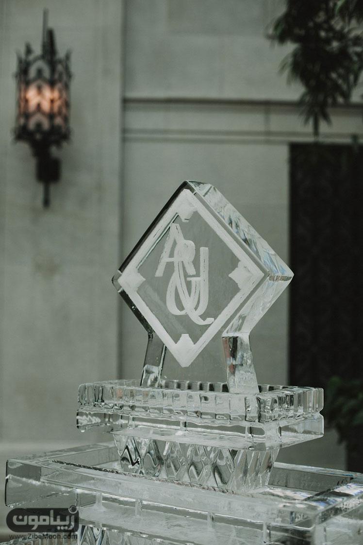تندیس یخی و مجلل عروسی