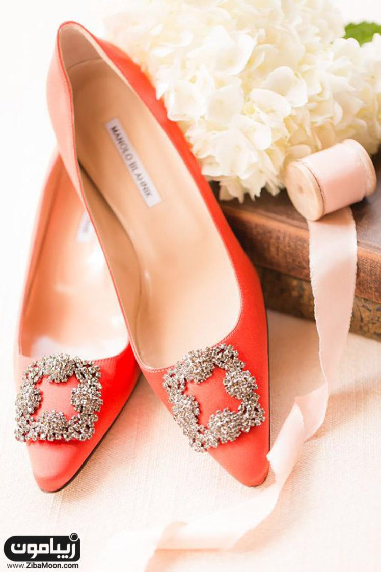 کفش عروس نارنجی