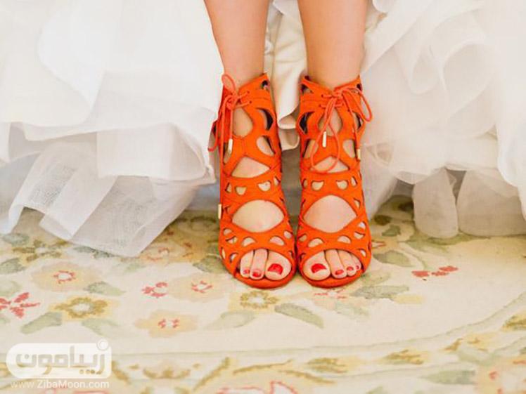 صندل نارنجی برای عروس