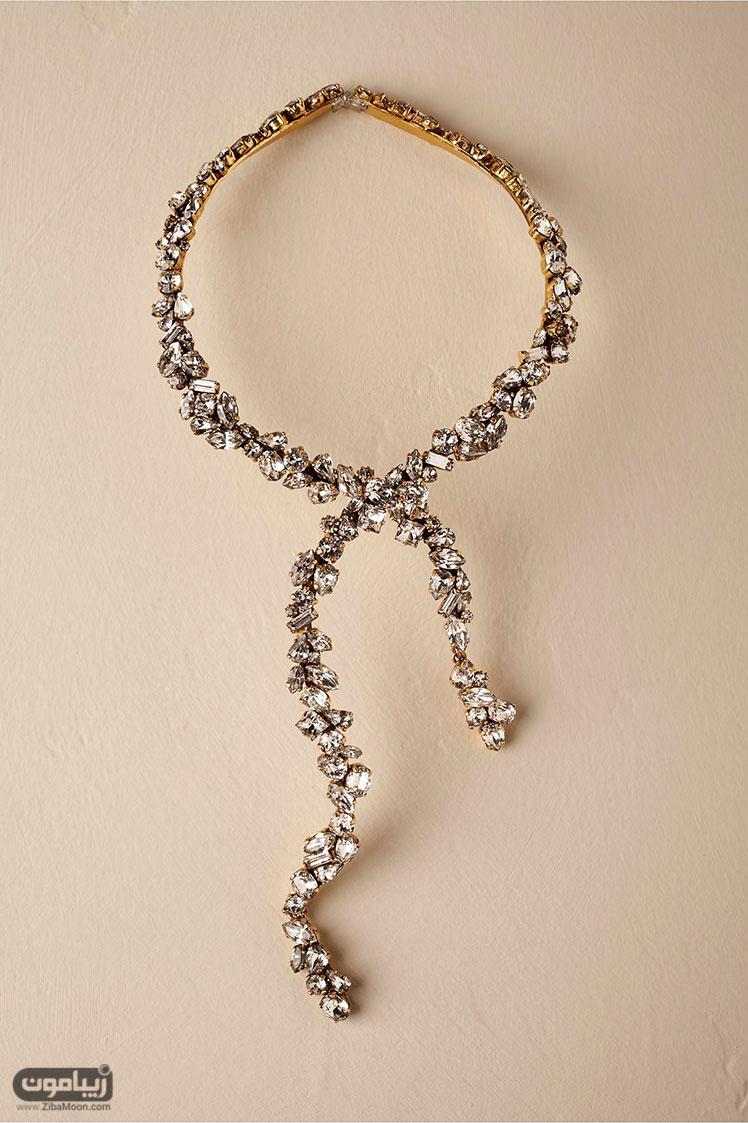 جواهرات عروس گردنبند کریستالی