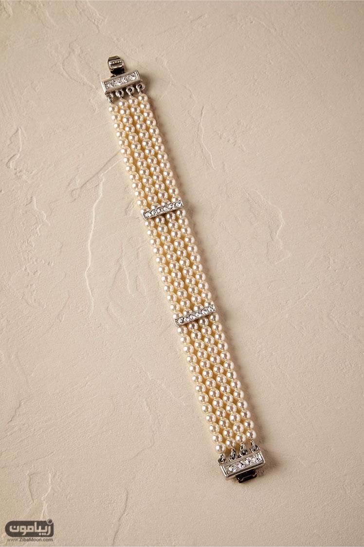 دستبند مروارید عروس