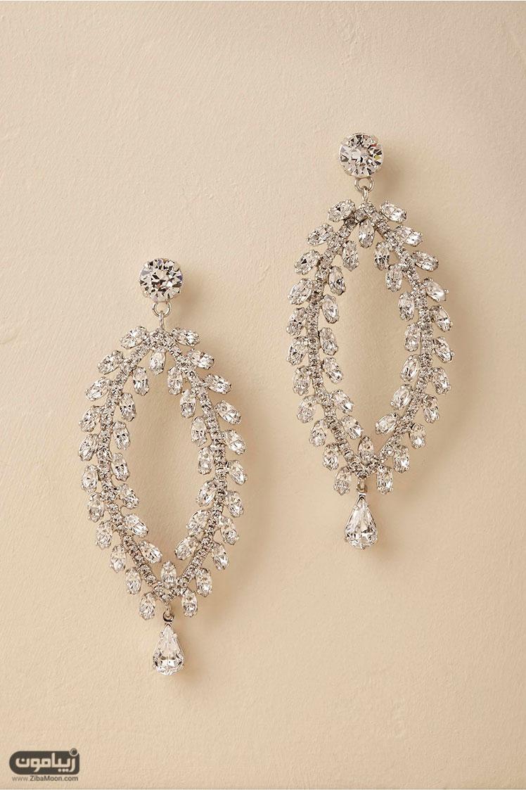 گوشواره عروس جواهر کریستالی