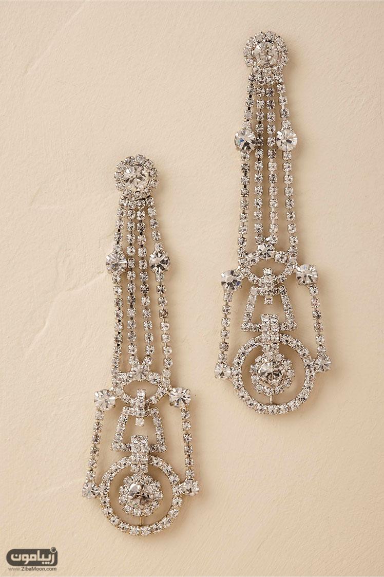گوشواره عروس کریستالی چلچراغی